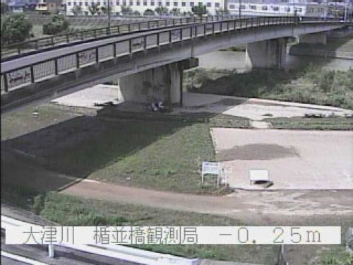 大津川の水位は普段通り