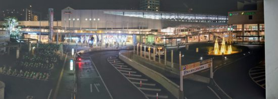 泉大津駅のイルミネーション