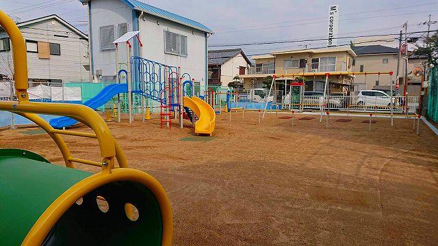 上之町公園(おてんのうこうえん)の遊具が新しくなってます