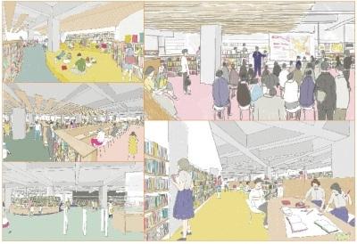 泉大津駅前に移転する新しい図書館の愛称募集